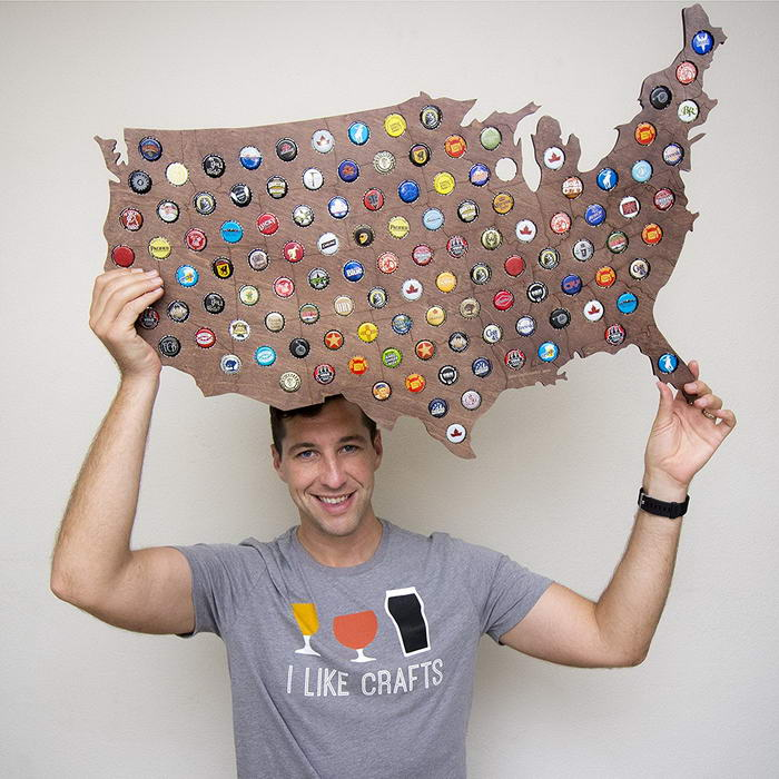 USA Beer Cap Map (1)